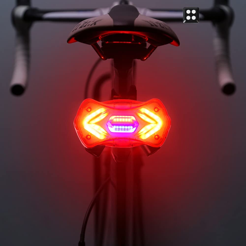 Selling rankings Multi-Function Max 53% OFF Bike Tail Light Rechargeable JINHILL Waterproof L