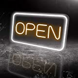 LED Neon Open Sign, 16'x 9'New Electric Signs, Ultra Bright for Busines Signs, Electric Light Up Signs for Bars, Stores, Coffee Shop, Hotel etc.