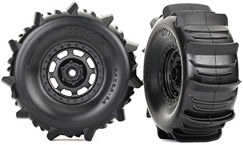 TRAXXAS Tires & wheels, assembled (Desert Racer wheels, paddle tires (TRX8475)