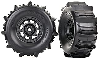 Traxxas 8475 Desert Racer Wheels with Paddle Tires, Black