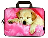 iColor Cute Dog Neoprene Sleeve Case with Handle for 15-15.6 Inch Laptop(IHB15-006)