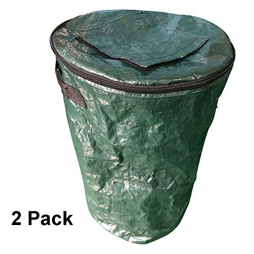 Big Save! tmtonmoon 2 Pack Garden Waste Bags Leaf Yard Bag with Handles Window Reuseable Heavy Duty ...