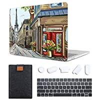 MAITTAO 4 in 1 Bundle Macbook Air 13 Inch Case 2020 Release A2179 With Retina, Plastic Pattern Hard Shell & Laptop Sleeve Bag & Keyboard Cover For MacBook Air 13 with Touch ID, Cityscape Painting 3