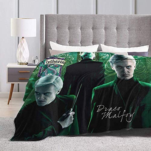 shenguang 3D Flannel Throw Blanket Draco-Malfoy Lightweight Soft Cozy Bed Blankets for Couch Sofa Chair Suitable for All Seasons for Adult Kids Girls 50'X40'
