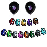 Among Us Party Decoration,Happy Birthday Banner,Ballon for Boys Girls Kids Adults Party Supplies
