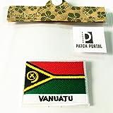 Patch Portal Vanuatu Flagge 5,1x 7,6cm Emblem Sew auf Reisen Patches bestickt Country Badge Inseln Aloha Crest Stickerei für TShirt Jacken bikers Herren Frauen Rucksäcke Hüte