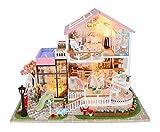 Flever Dollhouse Miniature DIY House Kit Creative Room with Furniture...