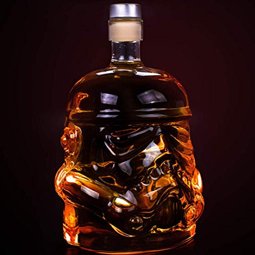 WANGIRL Süße 650ml Sturmtrupper Karates, Stormtrooper Dekanter, Stormtrooper Flasche, Whisky Carafe, transparenter kreativer Whisky Carafe Dekanter LOLDF1