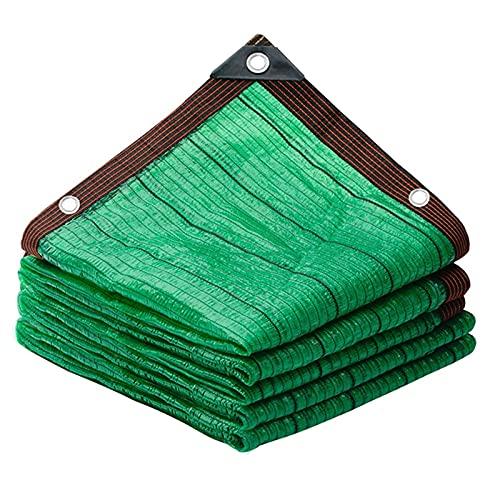 FF Shade Sails Tejido de malla para protección solar Tela de malla para sombrilla con ojales Cortavientos para cubiertas de jardín Plantas Patio Hogar Verde 2mx2m (Tamaño: 5 * 10m)