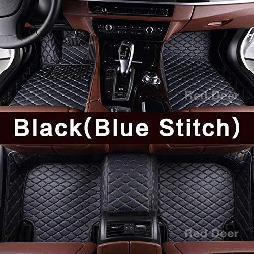 LUOLONG Auto-Fußmatten, Maß Auto-Fußmatten Speziell Für Audi A4 B6 B7 B8 B9 A5 S5 Rs5 A3 A6 A7 Q3 Q5 Q7 Qualitäts-Teppich Teppichboden Liner, Schwarz (Blau-Stich)