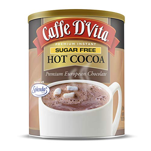 Caffe D'Vita Sugar Free Hot Cocoa - Pack of 6 - 10 oz. cans