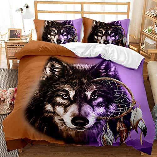 SK-YBB Ropa de cama de 3 piezas, 100 % microfibra con cremallera (135 x 200 cm) adecuada para adolescentes, niños, regalos de amigos (W6, Single140 x 210 cm (50 x 75 cm))