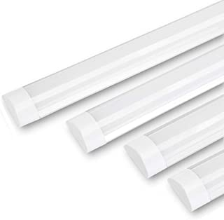 Maidodo - 4 bombillas LED de bajo consumo para techo Tubo de iluminación de perfil delgado de aluminio para uso doméstico en garaje y oficina, blanco natural, 20W 2FT 60CM 20.00watts