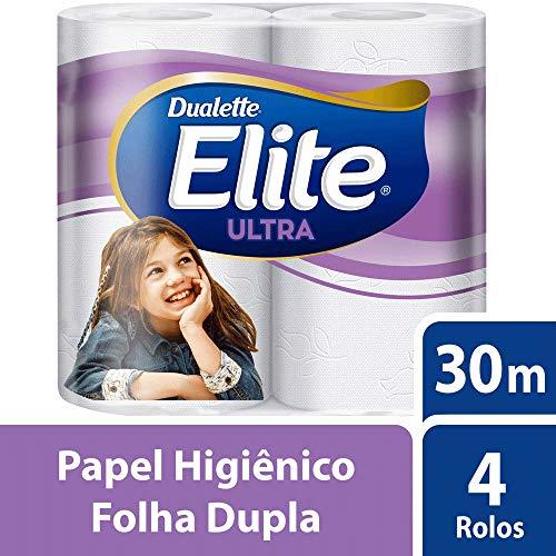 Papel Higiênico, Elite, Azul, 4 Rolos, pacote de 4