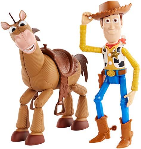 Toy Story 4 4 Pixar Disney Woody e Bull Seye Personaggi Articolati da 18 cm, Giocattolo per Bambini di 3+ Anni, GDB91
