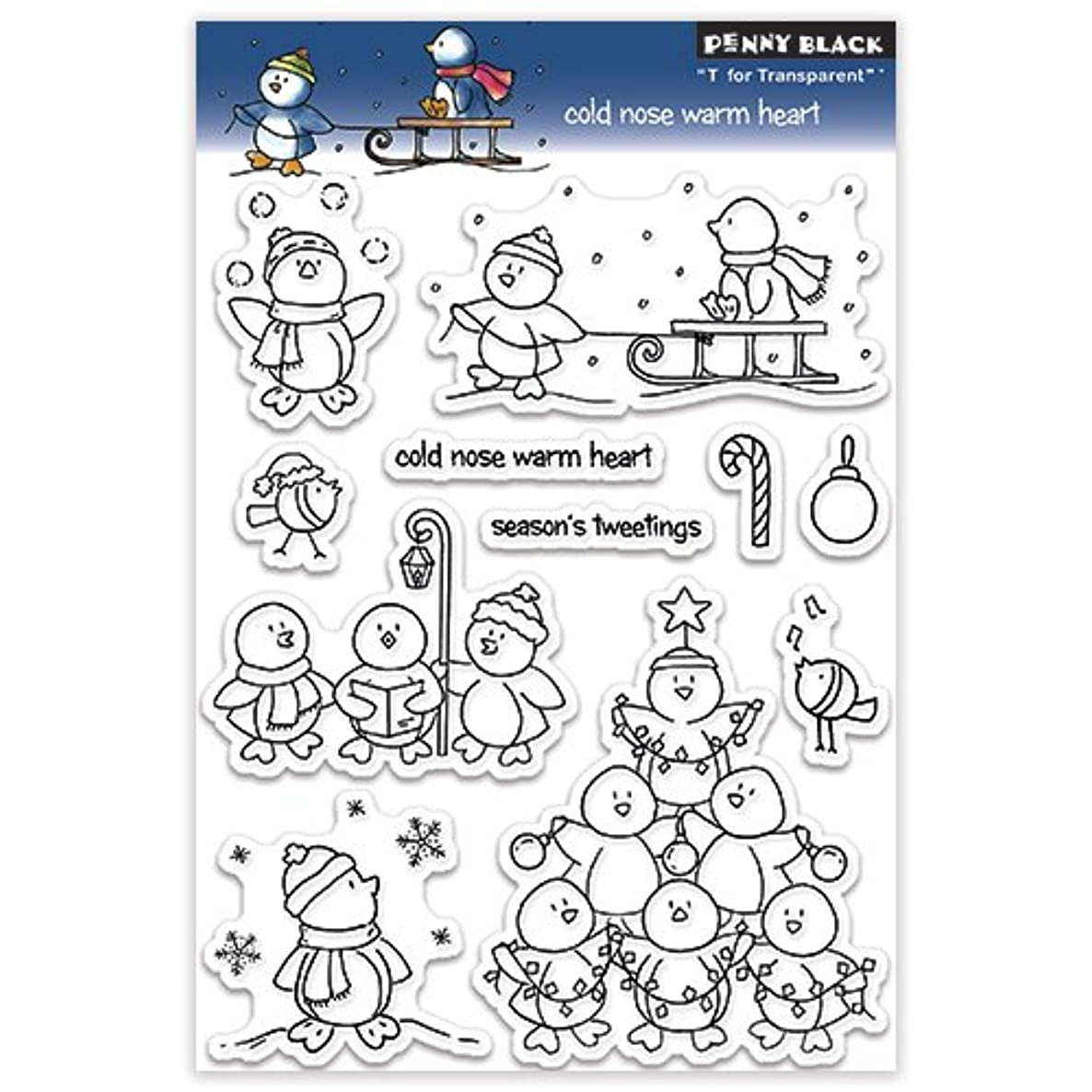 Penny Black 30-129 Cold Nose Warm Heart Clear Stamp