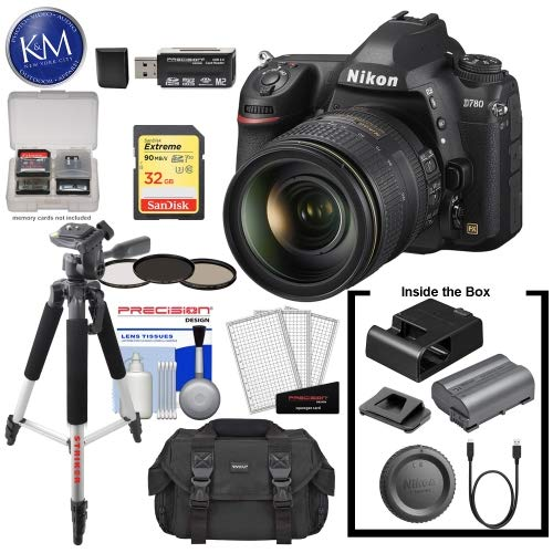 Lowest Prices! Nikon D780 DSLR Camera with 24-120mm Lens with 32GB Extreme SD Card, 5Pc Cleaning Kit...