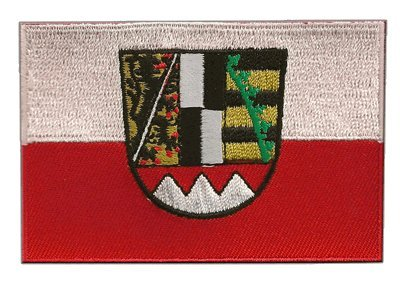 Flaggen Aufnäher Deutschland Oberfranken Fahne Patch + gratis Aufkleber, Flaggenfritze®