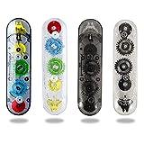 4pcs Two-color Correction Tape Pen, White, Cream Color, 1/5' x 394', 2 In 1