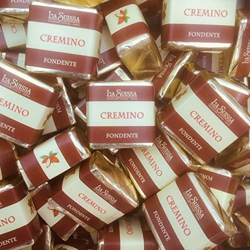 Cremini Fondenti della tradizione Piemontese La Suissa g 500 - Cioccolatini fondenti a strati al gusto Nocciola - Senza Glutine