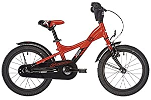S'COOL Kinder XXlite Alloy 16 Kinderfahrrad, Red/Black Matt, Zoll