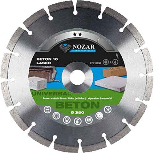 Disco de corte de diamante para amoladora y sierra de mesa 350 x 25,4 6700967 Laser Turbo Titan 10