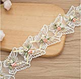 2 Yard Flower Lace Ribbon Trim Wedding Dress Decoration Embroidery Lace Fabric Sewing Crafts Garment Accessories Width 2.5inch