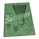 Shuttlecock Green United States Patent Rustic Metal Sign Full Color Imprinted On Metal Signs Tin Plaque Aluminum Wall Poster For Garage Man Cave Cafe Bar Pub Decoration 12'x8'
