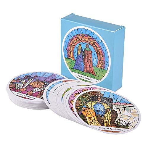 SHOH 78 Tarot of The Cloisters Seltenes Vintage Deck 1993, Tarot of The Cloisters, ronde tarotkaarten, klontkaartspellen, Engelse kaarten, 93 jaar van tarotkaarten, zeldzame kaarten, verzamelaarsstukken