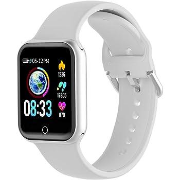 Smartwatch, KUNGIX Orologio Fitness Uomo Donna Smart Watch Bluetooth Impermeabile IP68 Pressione Sanguigna Monitor Cardiofrequenzimetro da Sportivo
