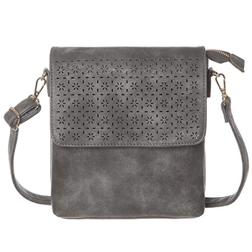 Jonvikki Small Crossbody Bags Travel Purse and Handbags Crossbody Shoulder Bag For Women(Grey)