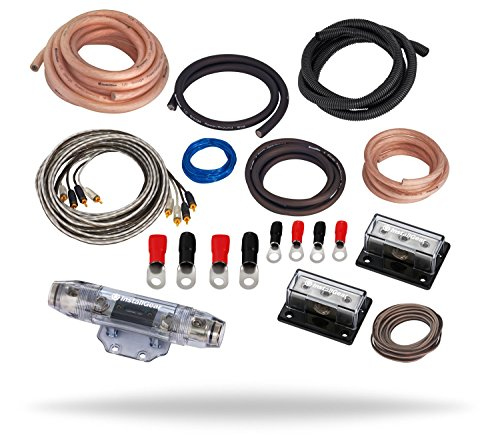 InstallGear Dual 1/0 Gauge Amp Kit Ga Amplifier Installation Wiring True Spec and Soft Touch Wire