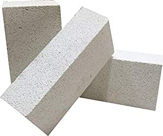 AA Plus Shop Insulated Fire Brick, White/Beige,Soldering, Forging, Fire Stove, Furnace, Small or Large (9x4.5x2.5 (Large) 4PK)