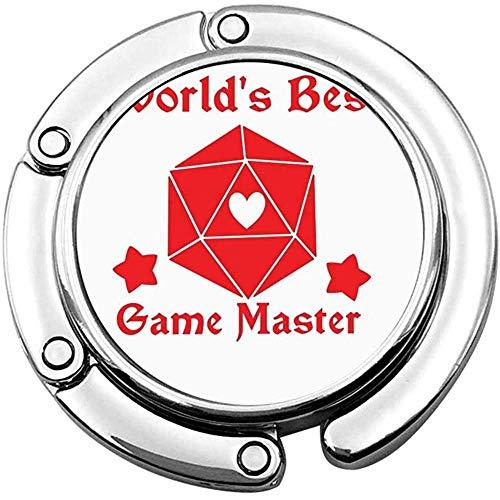 Der Weltbeste Game Master D20 Faltbare Handtasche Handtaschen-Tischhaken Personalisierter Taschenhalterhaken
