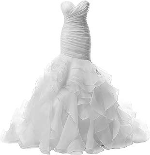 JAEDEN Wedding Dress Mermaid Strapless Bridal Dresses Ruffles Wedding Gown Sweetheart Bride Dress Trumpet