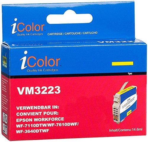 iColor kompatible Patronen: Tintenpatrone für Epson (ersetzt T2714 / 27XL), Yellow XL (kompatible Tintenpatronen für Tintenstrahldrucker, Epson)