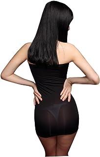 LinvMe Women's Sexy Transparent Sheer Micro Mini Dress Nightclub