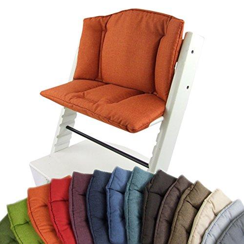 BAMBINIWERLT vervanghoes, kussenset voor hoge stoel/kinderstoel Stokke Tripp Trap, zitverkleiner (gemêleerd) oranje