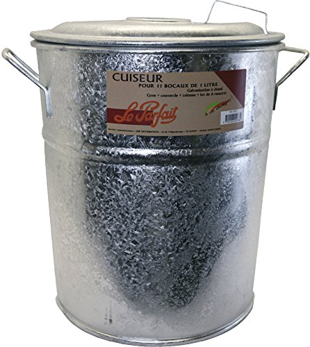 Le Parfait 2073005 - Olla esterilizadora para 11 tarros de conservas (metal, 45 x 38 x 44 cm), color gris