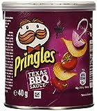 Pringles Texas BBQ Souce Productos de Aperitivo Frito con Sabor a Salsa Barbacoa Texana - 40 g