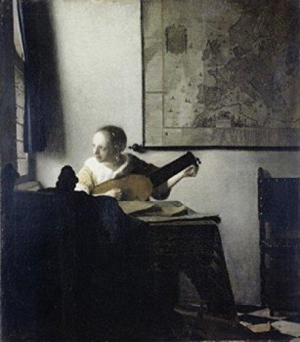 Jan Vermeer – The Lute Player Jan Vermeer (1632-1675 Dutch) Oil on Canvas Metropolitan Museum of Art New York USA Poster Drucken (60,96 x 91,44 cm)