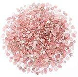 Bofanio 1.1 lb Rose Quartz Chips Stone...