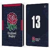 Head Case Designs sous Licence Officielle England Rugby Union Position 13 2020/21 Joueurs Away Kit Coque en Cuir à Portefeuille Compatible avec Amazon Fire HD 8/Amazon Fire HD 8 Plus 2020