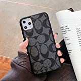 CO TPU Shockproof Hybrid Slim Full Body Protective TPU x PU Leather Case for Apple iPhone (Black, iPhone 11)