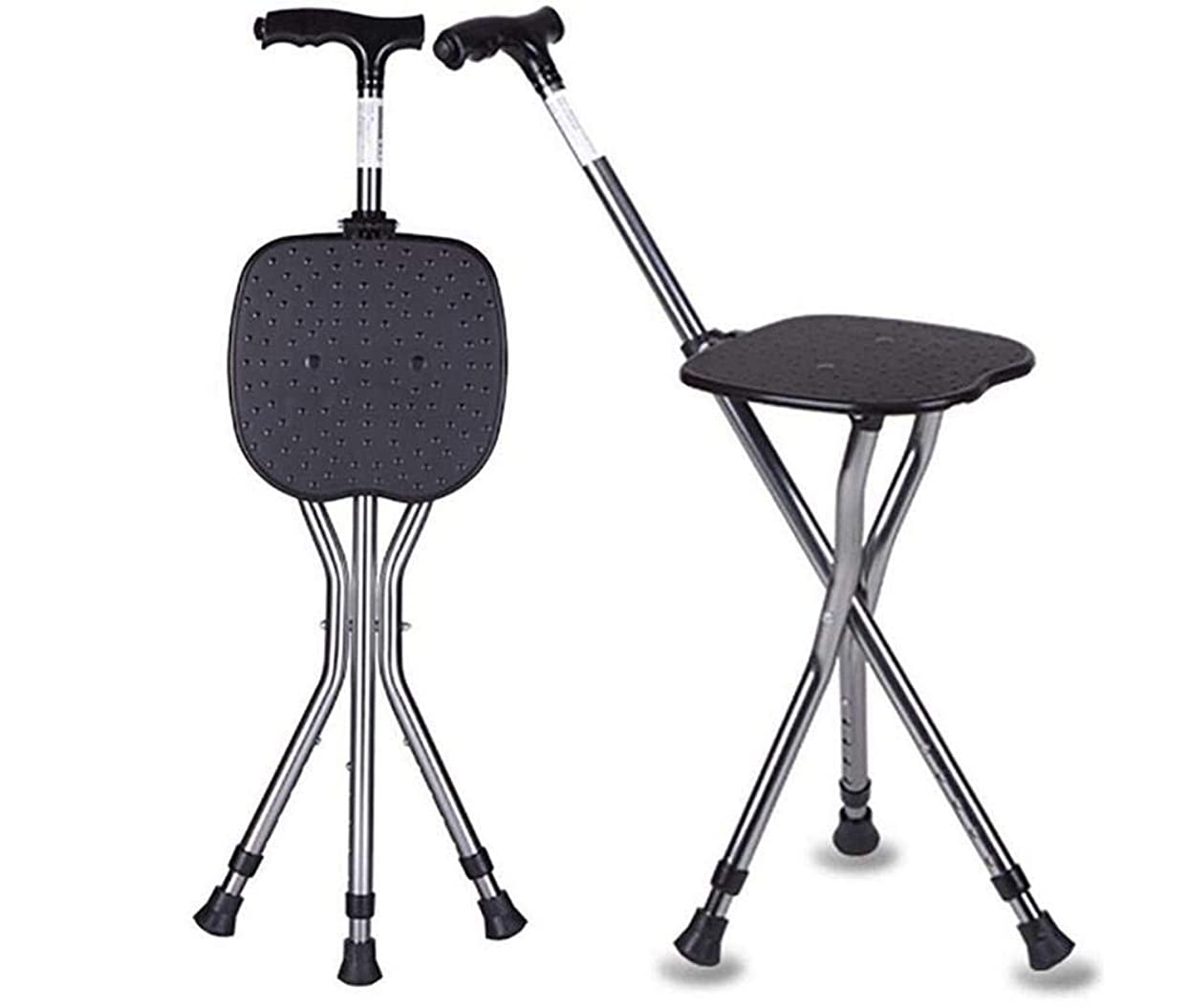 交渉する降雨モトリー松葉杖衛生用品ヘルスケア、折りたたみ式の杖、調整可能な高さのシートが付いている松葉杖の調整可能なウォーキングチェアスツールは、ライト86-96Cmを導いた