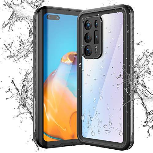 KOTPARX für Huawei P40 Pro Hülle, IP68 wasserdichte 360 Grad Transparent Stoßfest Handyhülle Ganzkörperschutz mit Eingebautem Displayschutz Ultradünn Bumper Schutzhülle Unterwasser Outdoor