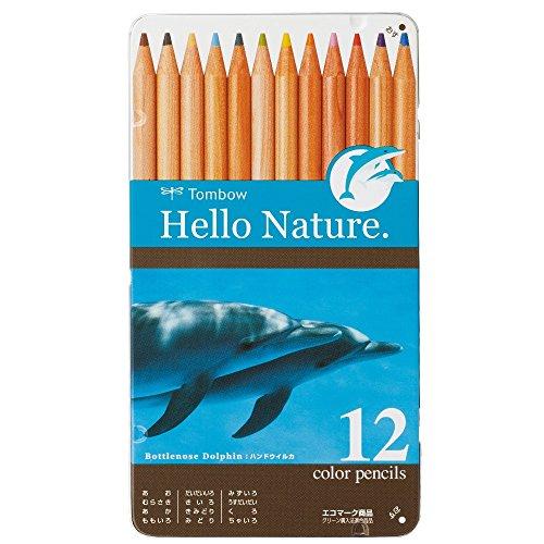 トンボ鉛筆 色鉛筆 ハローネイチャー 12色 ドルフィン CB-RHNDL0212C