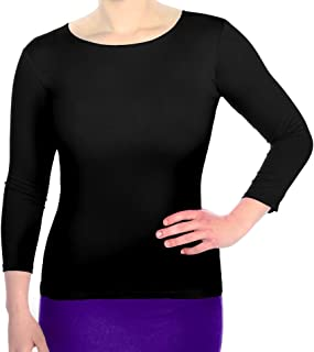 Kosher Casual Women's 3/4 Sleeve Boat Neck Layering Knit Top