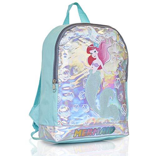 Disney Mochila Escolar Niña Con Diseño Holográfico Princesa Disney La Sirenita Ariel, Mochilas Escolares Juveniles Para Colegio Guardería Viajes, Regalos Originales Para Niñas