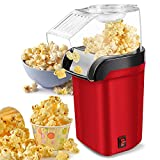 Hot Air Popcorn Popper Machine,1200W Home Electric Popcorn Maker with Measuring Cup,3 Min Fast Popping,ETL Certified, BPA Free, No Oil Needed, Great Air Popcorn Popper for Home Family Movie TV, Party